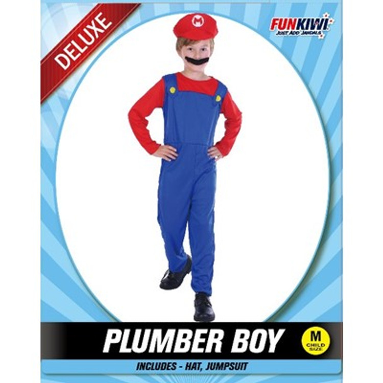 Mario Plumber Childs Costume