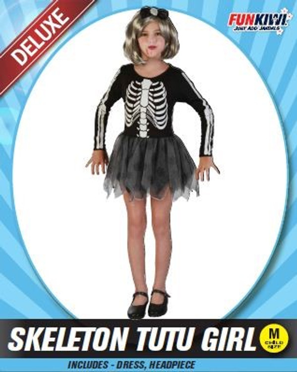Skeleton Girls Tutu Costume
