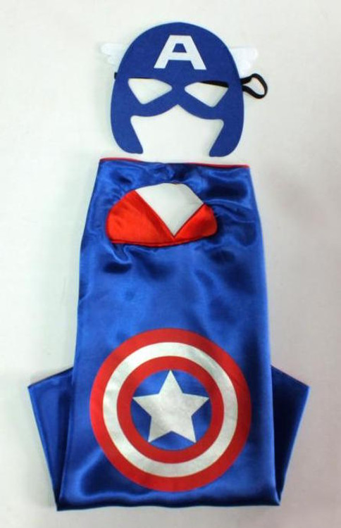Captain America Superhero Cape & Mask