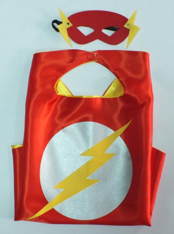 Flash Superhero Cape & Mask