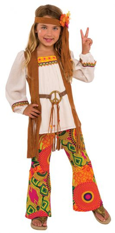 1960's Flower Child Girls Costume