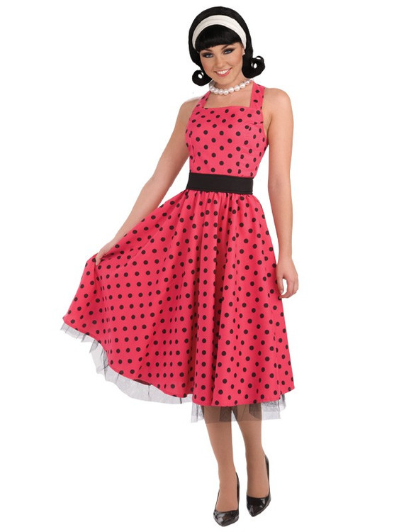 1950s Pretty in Pink Womens Costume
