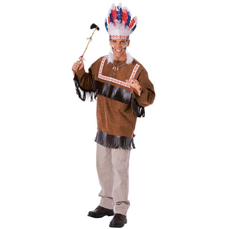 Adult Indian CHEROKEE WARRIOR Mens Costume
