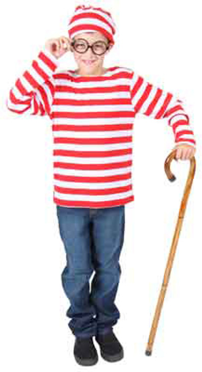 Wheres Wally Waldo Kids Costume