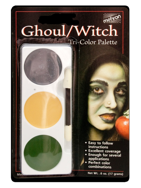 Mehron Tri-Colour Make-up Palette - Ghoul Witch