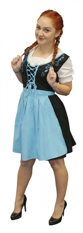 Oktoberfest Beer Maiden Blue Costume