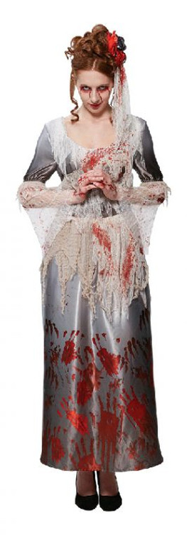 Halloween Bloody Dress Womens Costume