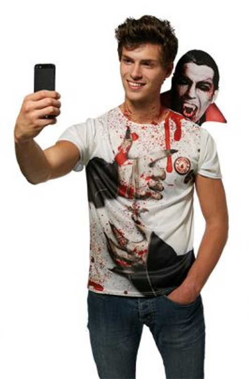 Halloween Vampire Selfie Shocker T-Shirt