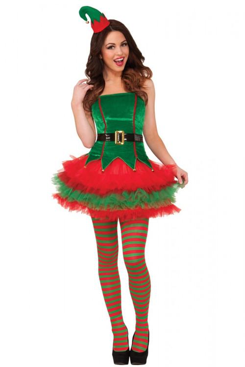 Elf Tutu Womens Costume