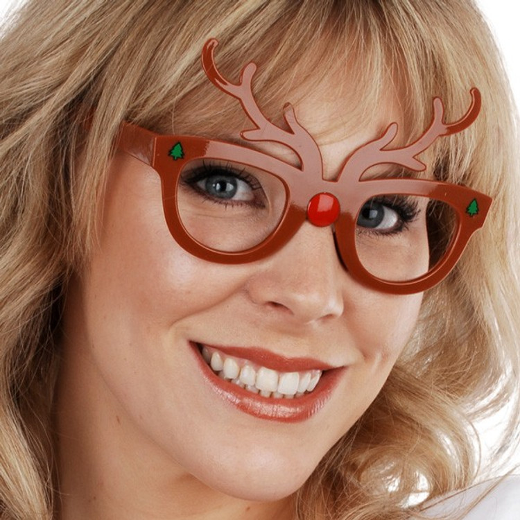 Reindeer Christmas Glasses
