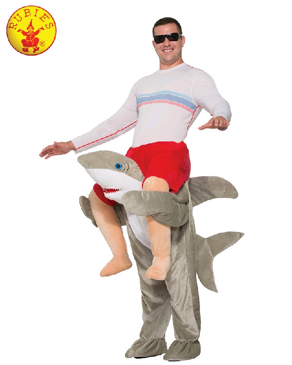Shark Piggy Back Adult Costume