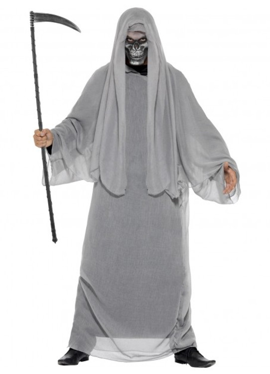 Grim Reaper Grey Mens Costume