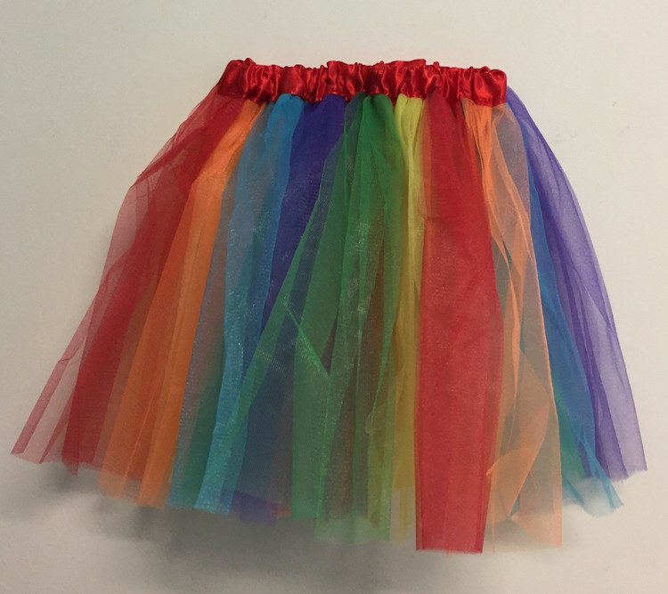 80's Tutu Skirt Rainbow