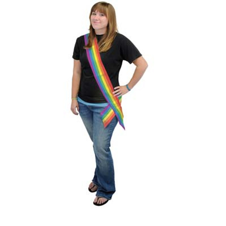 Sash Rainbow Satin