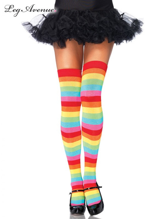 Thigh High Stockings Rainbow