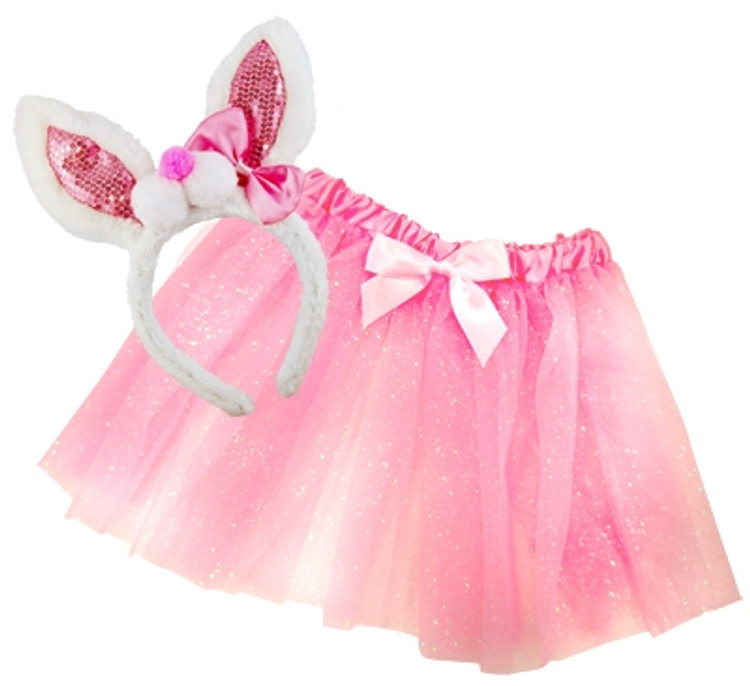 Bunny Rabbit Kids Dress-Up Set - Pink