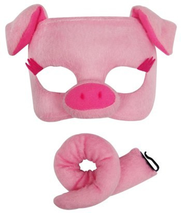 Pig Animal Mask & Tail Set