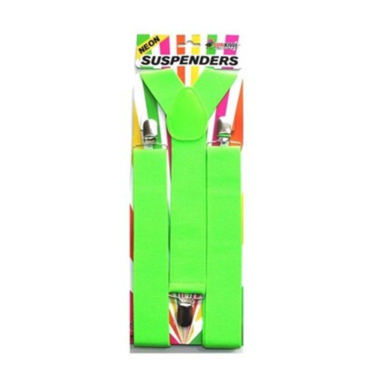 Braces Suspenders - Neon Green