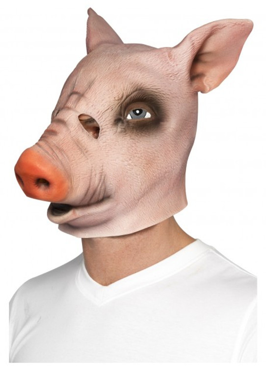 Pig Animal Latex Mask
