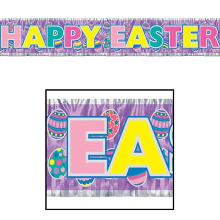 Easter Banner Metallic