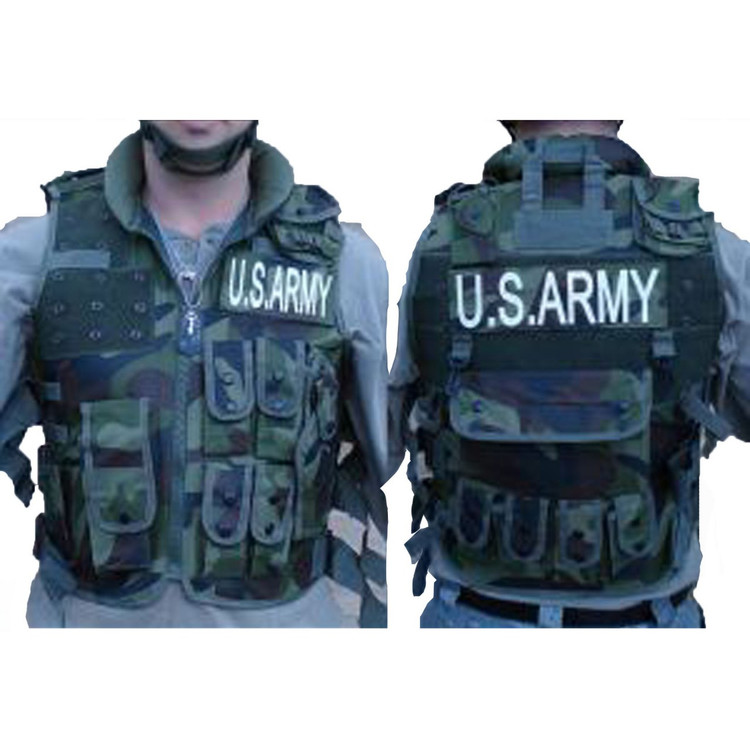 Adult Army US Soldier Vest With Cap Mens Costume