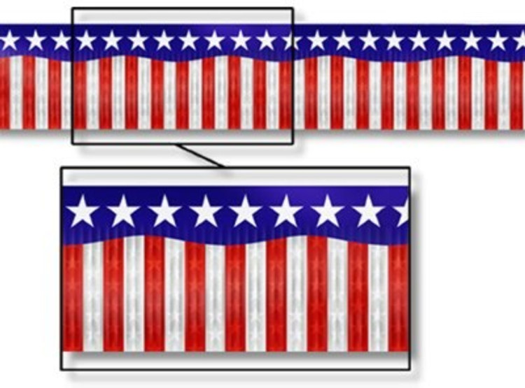 American Banner Metallic Stars & Stripes