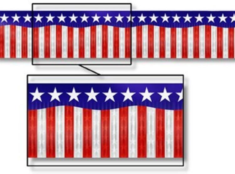 American Banner Metallic Stars & Stripes