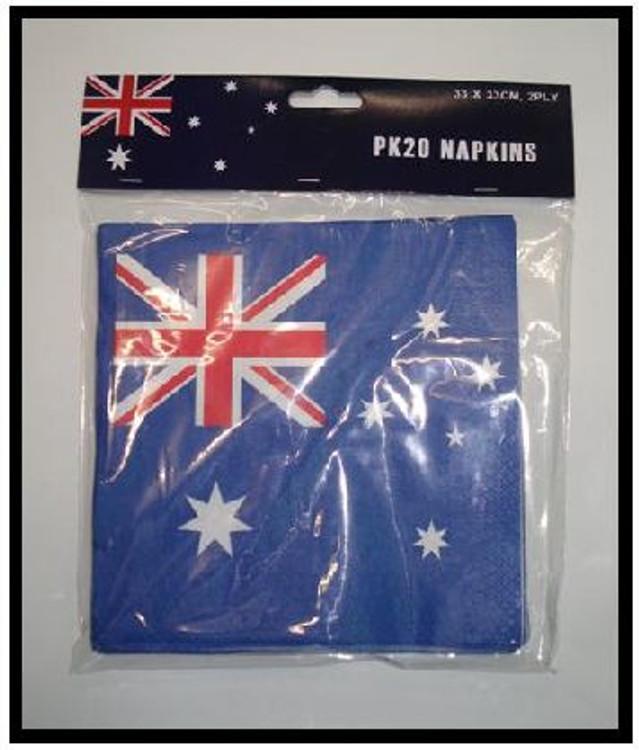 Australian Aussie Flag Napkins