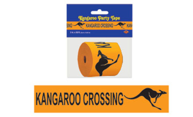Australian Kangaroo Crossing Tape