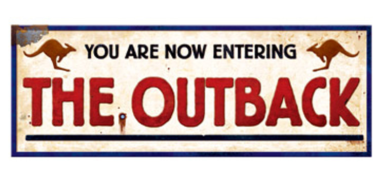 Australian Out Back Sign
