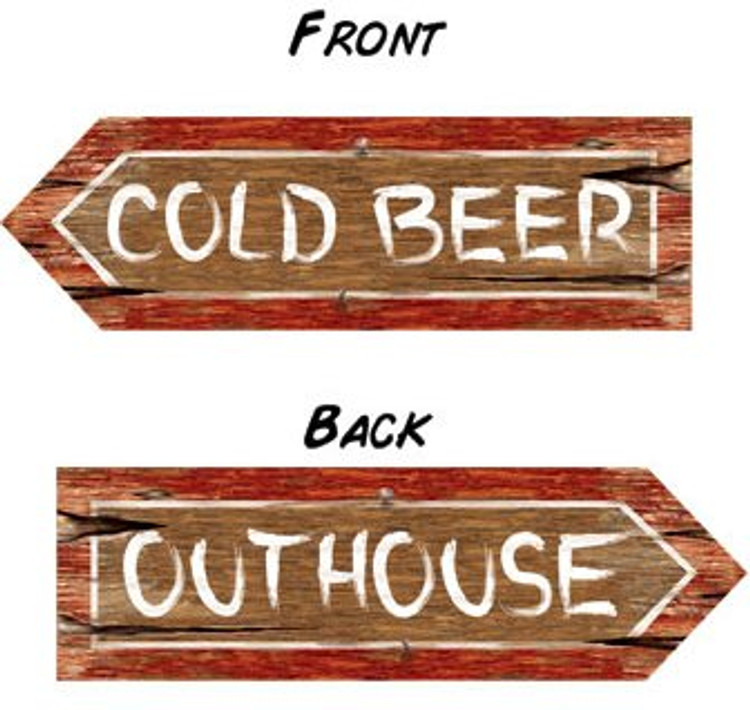 Australian Party Sign - Cold Beer / Out House