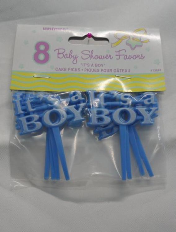 Baby Cake Pick - Blue - It's a Boy