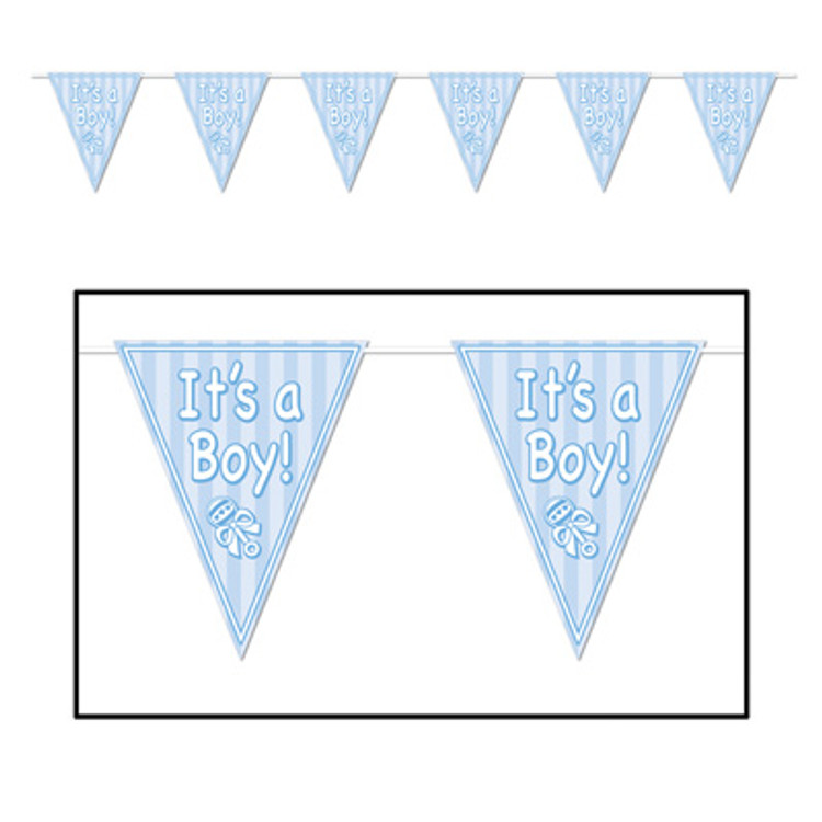 Baby Pennant Banner - It's A Boy