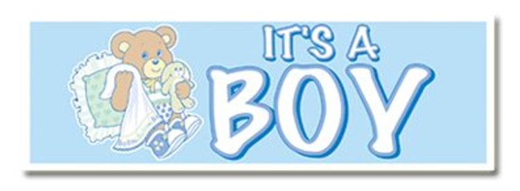 Banner Plastic Baby - It's A Boy