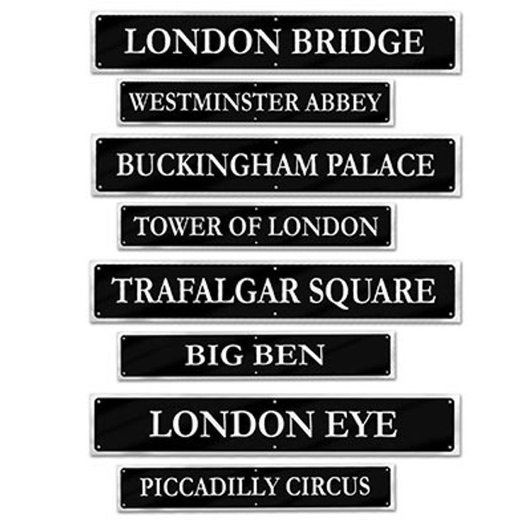 British Street Sign Cut Out