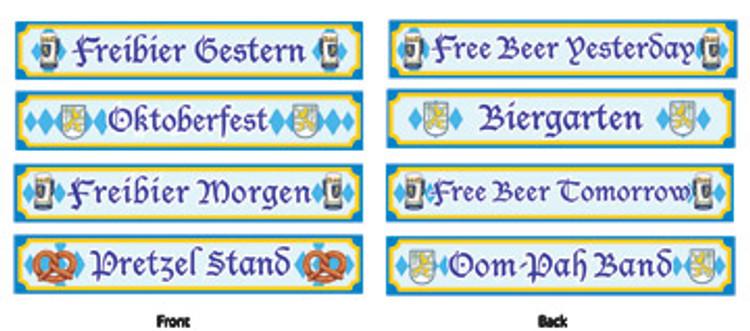 German Oktoberfest Street Sign Cut Outs