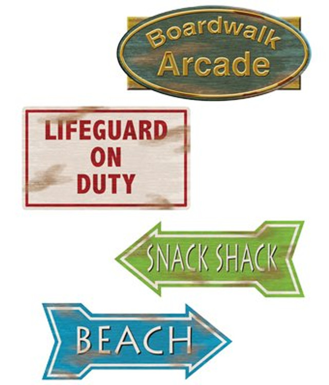 Beach Sign Cut Outs