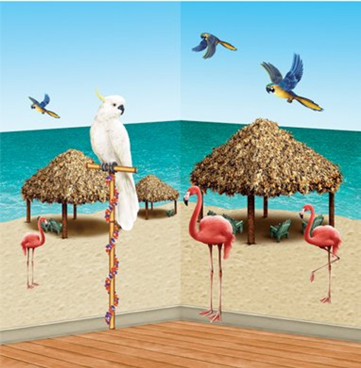 Tiki Hut & Trop Bird Props