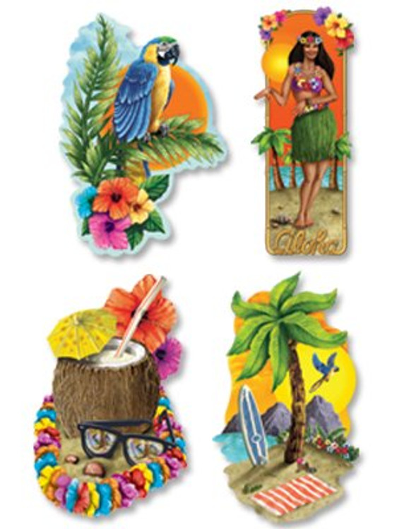 Luau Party Cut Outs