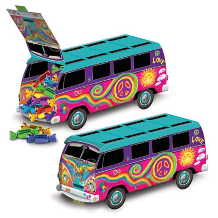 Hippie 60's Bus Centrepiece