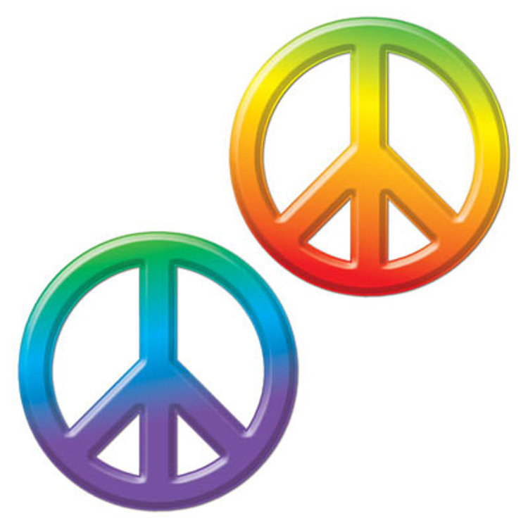 Hippie Peace Sign Cut Out