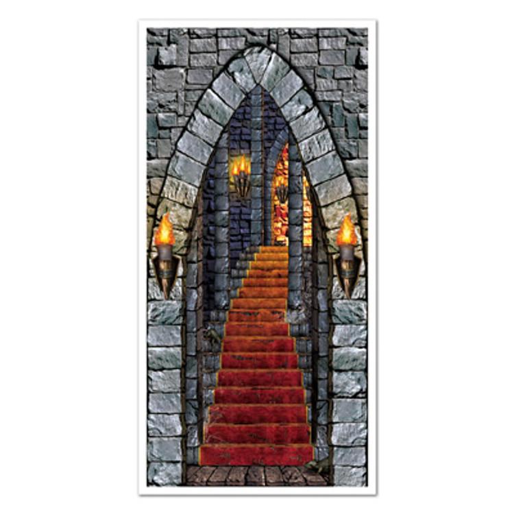 Medieval Door Cover Castle Entrance