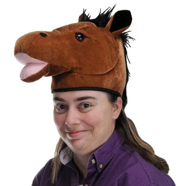 Horse Head Plush Hat