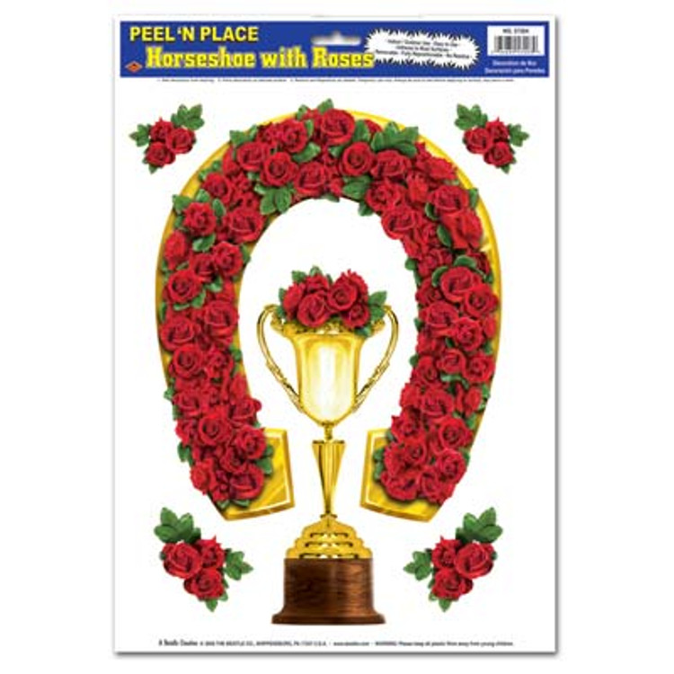 Horseshoe with Roses Peel N Place