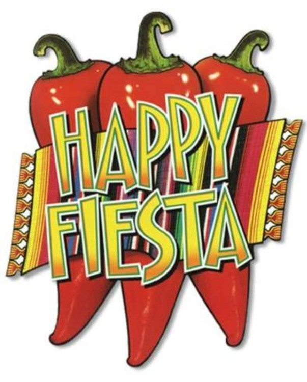 Mexican Happy Fiesta Chilli Cut Outs