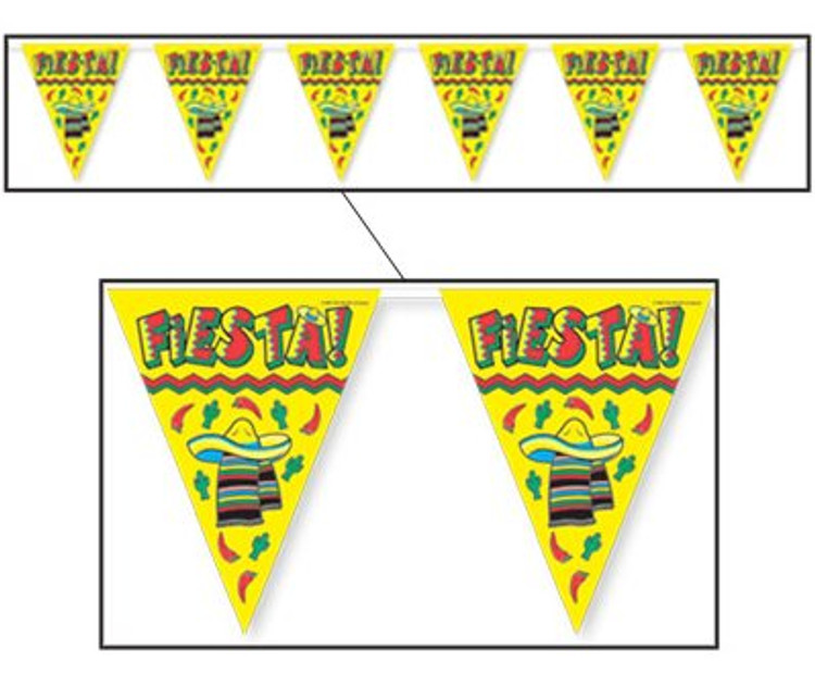 Mexican Fiesta Pennant Banner