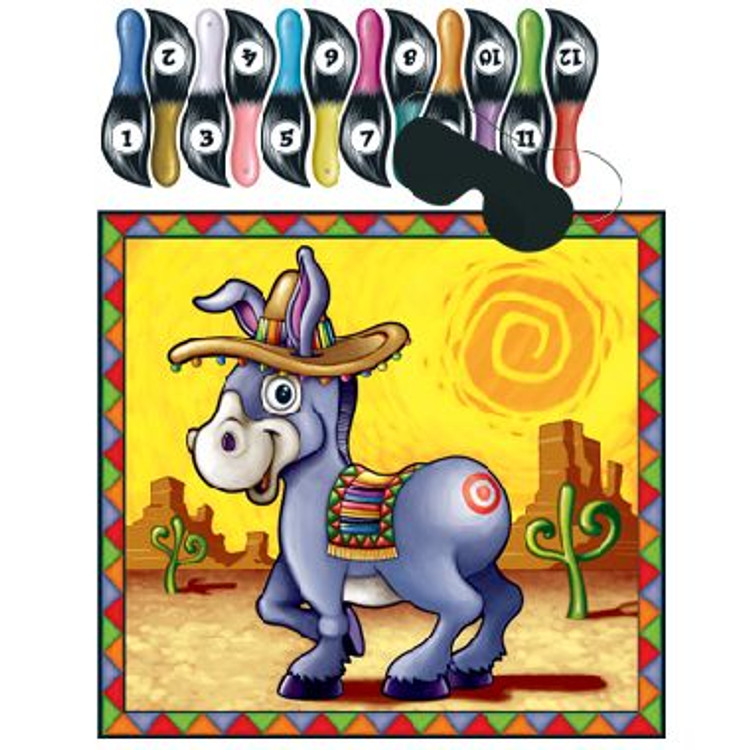 Mexican Game Pin the Tail On The Donkey