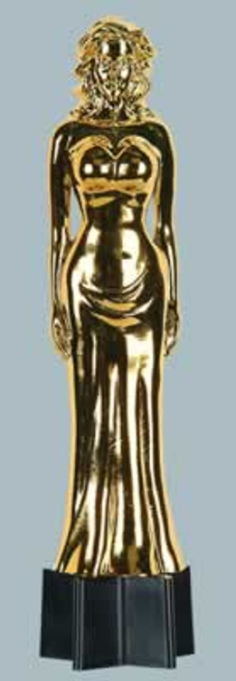 Movie Awards Night Gold Female Statue