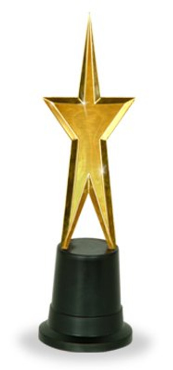 Movie Awards Night Gold Gold Star Statue