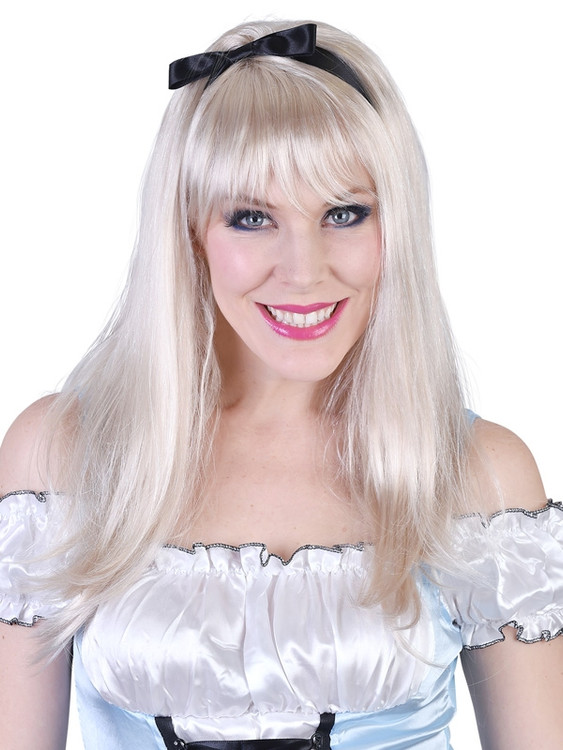 Alice Long Blonde with Fringe Wig